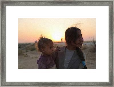 Kurdish Refugees Framed Print by MotionAge Designs