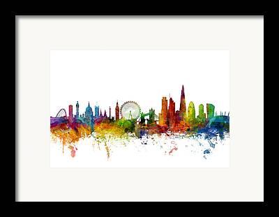 London Skyline Framed Prints