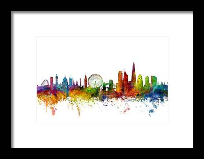 London Skyline Framed Prints
