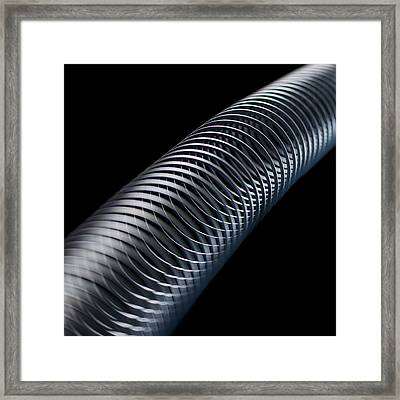 Longitudinal Wave Framed Print by Science Photo Library