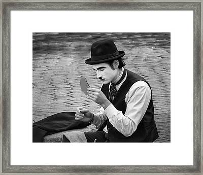7 - Looking Good - French Mime Framed Print by Nikolyn McDonald