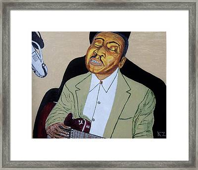 Mannish Boy. Muddy Waters. Framed Print by Ken Zabel