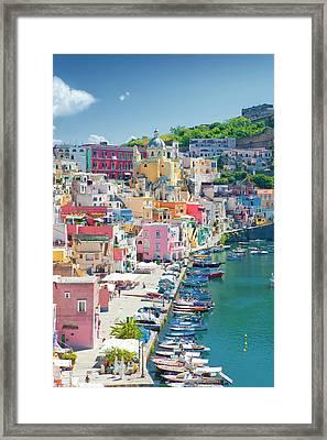 Marina Corricella, Procida Island, Bay Framed Print by Panoramic Images