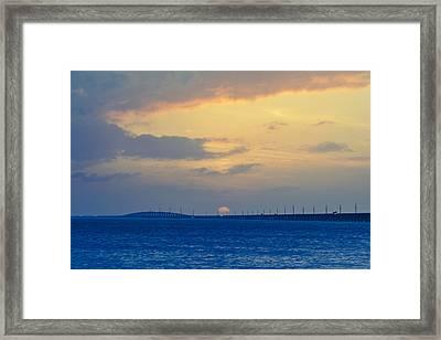 7 Mile Bridge 5 Framed Print by Scott Meyer