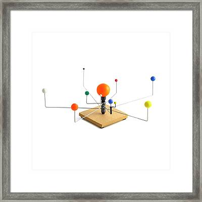Model Of The Solar System Framed Print by Science Photo Library