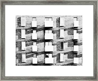 Modern Apartments Framed Print by Tom Gowanlock