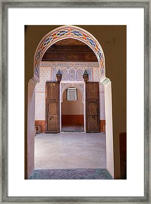 Morocco, Marrakech Framed Print by Emily Wilson