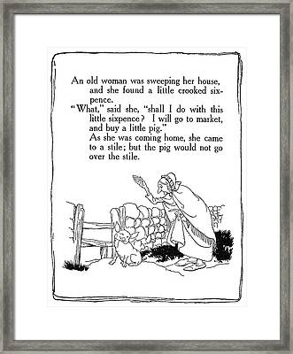 Mother Goose, 1913 Framed Print by Granger