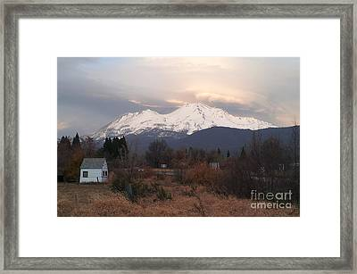 Mt. Shasta Framed Print by Wei Zhang