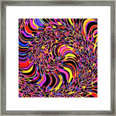 Multicolour Abstract Pattern Framed Print