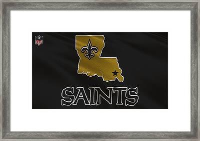 New Orleans Saints Uniform Framed Print by Joe Hamilton