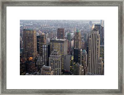New York Framed Print by Sergi Reboredo