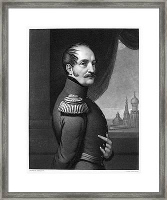 Nicholas I (1796-1855) Framed Print