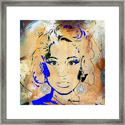 Nicki Minaj Diamond Earring Collection Framed Print