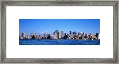 Nyc, New York City New York State, Usa Framed Print