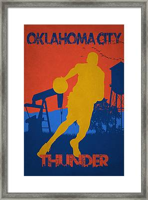 Oklahoma City Thunder Framed Print