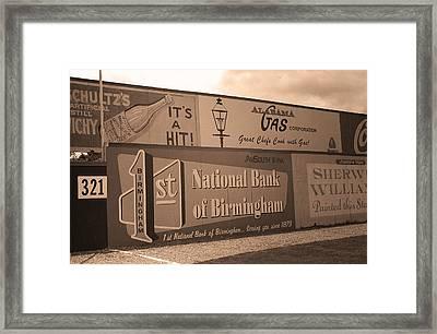Old Time Baseball Field Framed Print