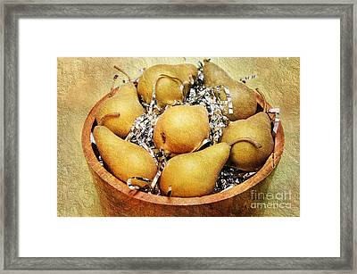 7 Pears At A Party Framed Print