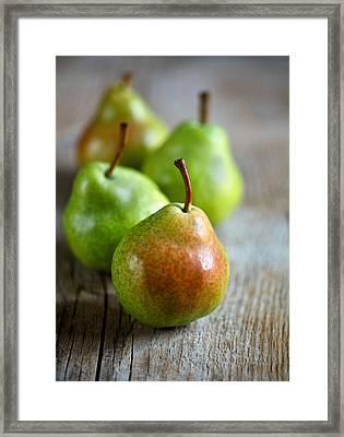 Pears Framed Print by Nailia Schwarz