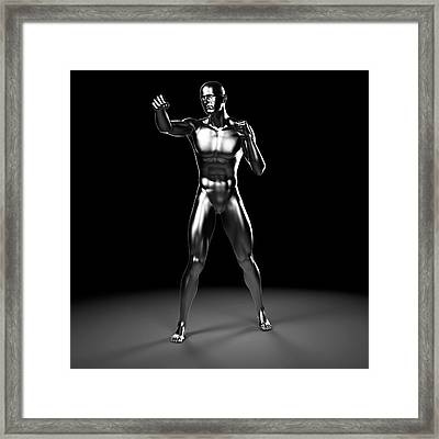 Person Boxing Framed Print