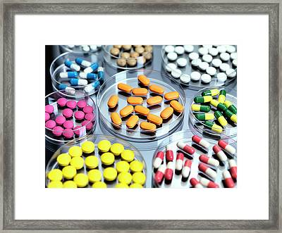 Pharmaceutical Research Framed Print