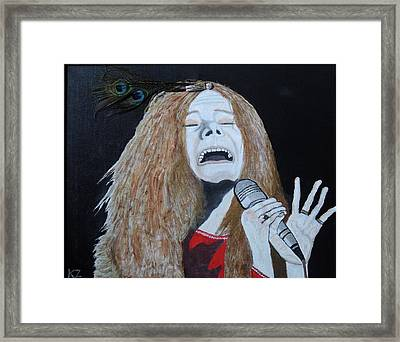 Piece Of My Heart. Janis. Framed Print by Ken Zabel