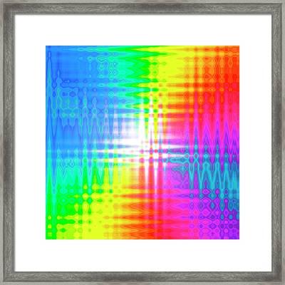 Prismatic Pattern Framed Print by Mehau Kulyk