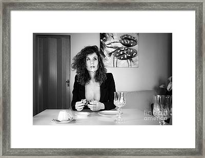 Que Nos Vies Aient L'air D'un Film Framed Print by Traven Milovich