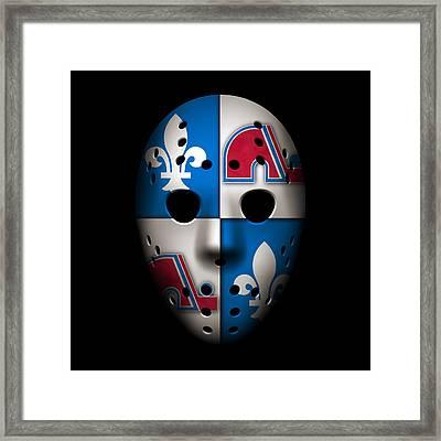Quebec Nordiques Framed Print by Joe Hamilton