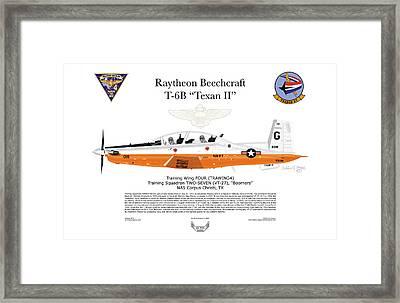 Raytheon Beechcraft T-6b Texan II Framed Print