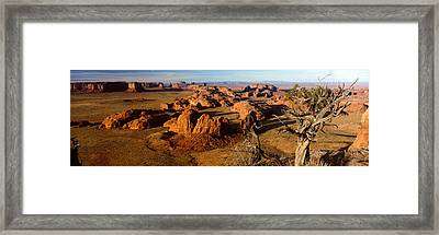 Rock Formations On A Landscape Framed Print by Panoramic Images