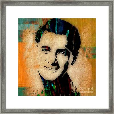 Rock Hudson Collection Framed Print by Marvin Blaine