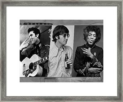 Rock N Soul Legends Framed Print