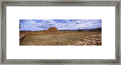 Ruins Of The Pecos Pueblo Mission Framed Print by Panoramic Images