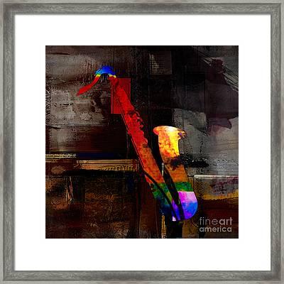 Sax Framed Print by Marvin Blaine