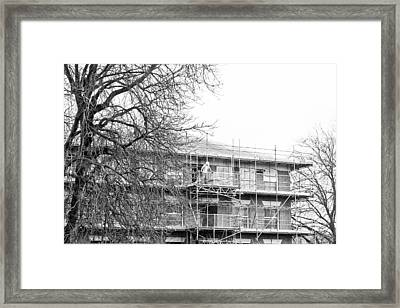 Scaffolding Framed Print by Tom Gowanlock