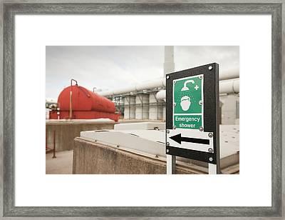 Sewage Odour Suppressant Plant Framed Print by Ashley Cooper