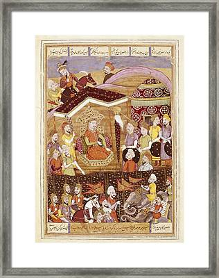 Shahnameh. The Book Of Kings. 16th C Framed Print by Everett