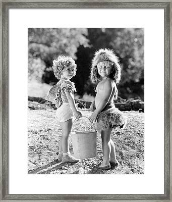 Shirley Temple And Gang Framed Print