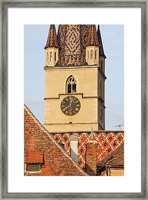 Sibiu, Hermannstadt In Transylvania Framed Print by Martin Zwick