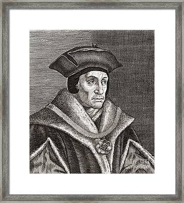 Sir Thomas More, English Statesman Framed Print