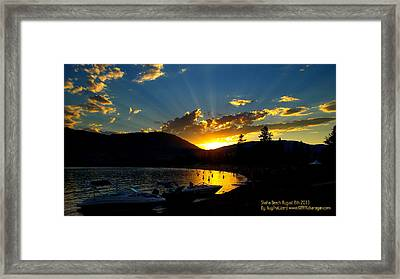 Skaha Lake Sunset Framed Print by Guy Hoffman