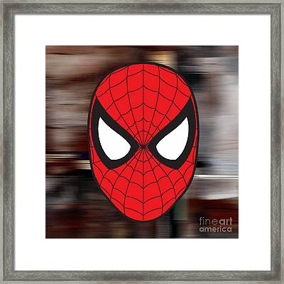 Spiderman Framed Print by Marvin Blaine