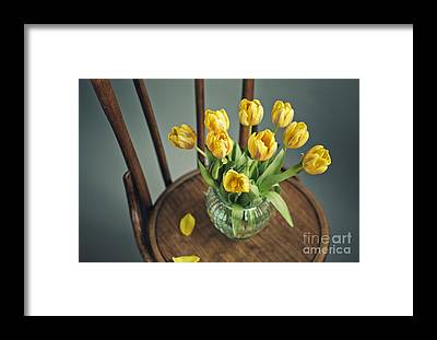 Antique Flowers Vase Framed Prints