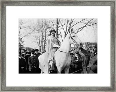 Suffrage Parade, 1913 Framed Print