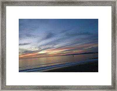 Sundown At Redondo Framed Print