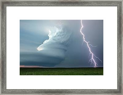 Supercell Thunderstorm Framed Print by Roger Hill
