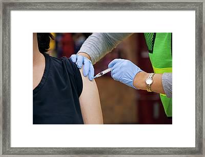 Swine Flu (h1n1) Vaccination Framed Print
