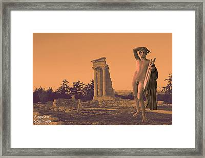 Temple Of Apollo  Framed Print by Augusta Stylianou
