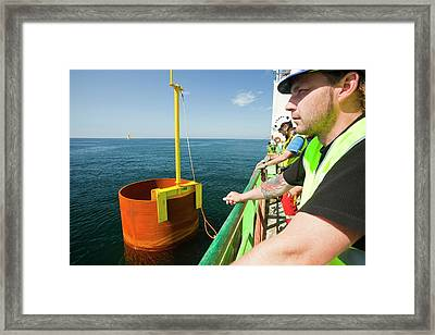 The Jack Up Barge Framed Print